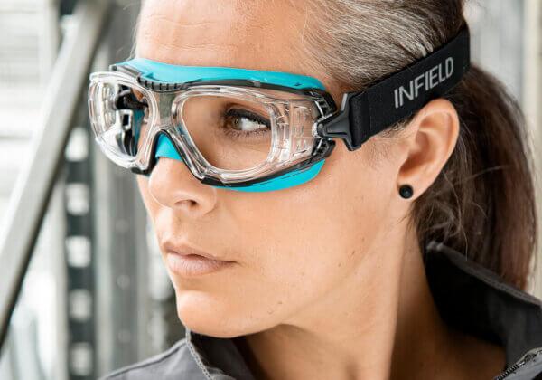 INFIELD Schutzbrille mit Sehstärke DEFENDOR-RX